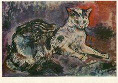 Oskar Kokoschka- Cat , 1910