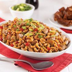 Le macaroni chinois fait sans conteste partie des mets qui nous replongent dans notre enfance! Macaroni Recipes, Pork Recipes, Asian Recipes, Dog Food Recipes, Chicken Recipes, Cooking Recipes, Healthy Recipes, Ethnic Recipes, French Recipes