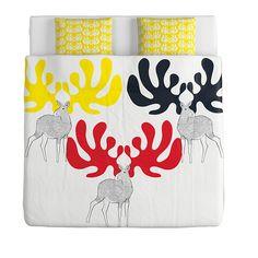 ÄNGSSPIRA Funda nórd y 2 fundas almohada - 240x220/50x60 cm - IKEA
