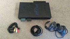 Sony Playstation 2 Fat Console Complete 1 Controller 10 Games Bundle