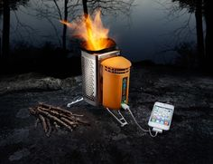 BioLite CampStove - Burn those small twigs and pine cones to make your dinner and charge your phone in less than 20 min.