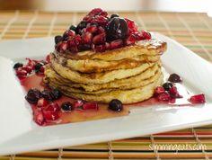 Cottage cheese pancakes -slimming world Slimming World Pancakes, Slimming World Puddings, Slimming World Desserts, Slimming World Breakfast, Slimming World Diet, Slimming Eats, Slimming World Recipes, Syn Free Pancakes, Paleo Pancakes