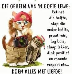 Afrikaanse Quotes, Goeie More, Christian Messages, Camping Humor, Good Morning Good Night, Special Quotes, Birthday Messages, Love Yourself Quotes, Motivational Posters