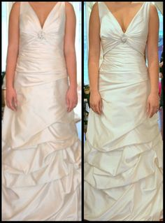 How similar does this wedding dress alteration look to the model? -Elvira's
