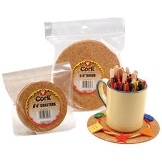 "24  4"" Cork Coasters for $14.99 plus other supplies on this site"