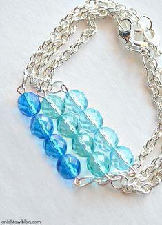 DIY Ombre Stacker Bracelets with Martha Stewart Crafts® Jewelry   #12monthsofmartha #marthastewartcrafts #jewelry