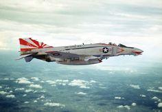 "Navy Phantom II from ""Sundowners"". Us Navy Aircraft, Us Military Aircraft, Military Jets, Airplane Fighter, Fighter Aircraft, Air Fighter, Fighter Jets, F4 Phantom, Phantom Power"