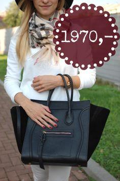 Černá kožená kabelka vyrobená v Itálii, cena pro Facebook fanoušky jen 1970 Kč Sledujte Facebook Siena Style