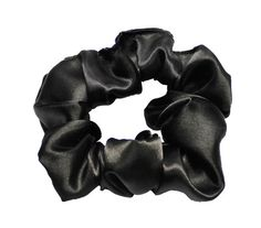 Scrunchies Black Satin Ponytail Holder Free by ScrunchieKing
