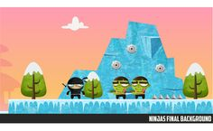 NINJAS VS ZOMBIES GAME by Federico Bonifacini, via Behance