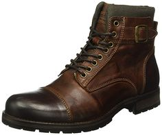 Jack & Jones Men's Albany Ankle Boots Bike Boots, Motorcycle Boots, Combat Boots, Men's Boots, Leather Men, Leather Boots, Mens Winter Boots, Casual Wear For Men, Mens Boots Fashion