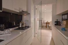 Glass kitchen door