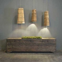 Lamps made from Tibetan Back Packs.  Wired with 15 ft of aircraft cable and lamp cord - via Clubcu.com