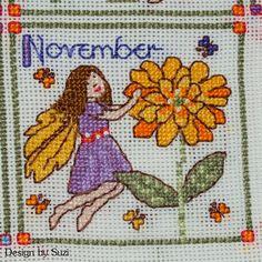 Lesley Teare - Birthday Fairies (Calendar 2015) - November