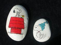 Snoopy+Paperweight+Rocks+Stones+Peanuts