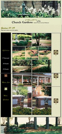 Church Gardens of the Carolina Piedmont: Another page from former website, re-assembled Churches Of Christ, Lutheran, North Carolina, City Photo, Gardens, Landscape, Website, Scenery, Outdoor Gardens