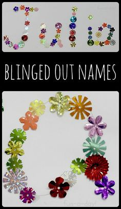 """Add some pizzazz to preschool and kindergarten name writing!  Use """"royal jewels"""" or """"pirate treasure"""" to create dazzling names with young children"""