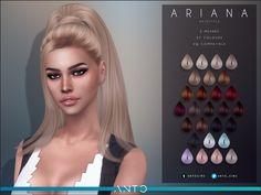 A R I A N A Hairstyle Inspired in her Grammy 2020 look. Comes in 2 versions, with and without front hair. 🥰 D O W N L O A D (Early Access, will be released after 2 weeks) Les Sims 4 Pc, The Sims 2, Sims Four, Sims 4 Mods Clothes, Sims 4 Cc Kids Clothing, Sims 4 Tsr, Sims Cc, Sims 4 Body Hair, The Sims 4 Bebes