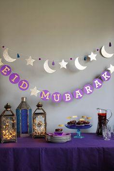 Eid al fitr garlands by Hello Holy Days! for Martha Stewart