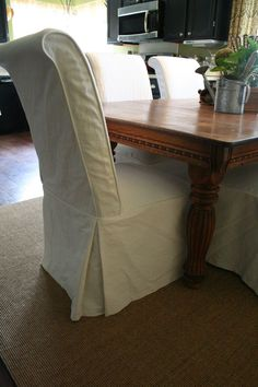 46 Chair Covers Ideas, Surefit Round Back Dining Room Chair Slipcover