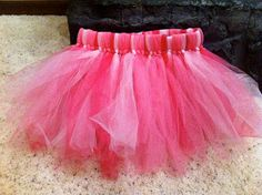 DIY Tulle Skirt- Love this but you could make it silver and white for an angel costume!