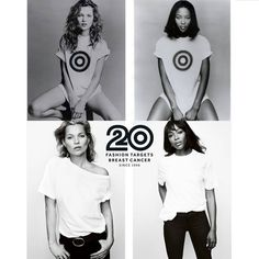 20 YEARS LATER: Kate Moss and Naomi Campbell for Fashion Targets Breast Cancer in 1996 and 2016. Photos: Patrick Demarchelier (top) / Mario Testino (bottom)