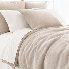 Pine Cone Hill | Linen Chenille Natural Duvet Cover | It's a natural! We love this plush, decadent duvet in a dreamy-soft blend of cotton, linen, and viscose.