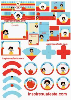 Snow White: Free Printable Kit.