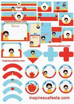 Snow White: Free Printable Kit.