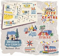 Anna Simmons - Map of Mexico City for National Geographic Traveller