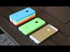 Gold iPhone 5S Review: Champagne Housing iPhone 5S vs iPhone 5C All Colo...