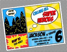 free superhero invitation