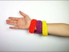 How to Loom Knit Bangles (DIY Tutorial) - YouTube