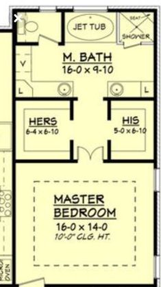 Ooh, nice layout for upstairs loft. Only, I would put a small bathroom opposite . - - Ooh, nice layout for upstairs loft. Only, I would put a small bathroom opposite . Master Bedroom Addition, Master Bedroom Plans, Master Bedroom Bathroom, Closet Bedroom, Master Suite Floor Plan, Bath Room, Attic Master Suite, Closet Space, Bathroom With Closet