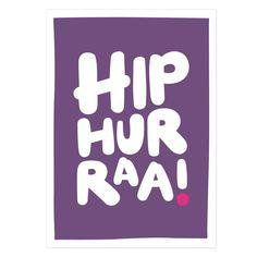 Hip hurraa (violetti) postikortti