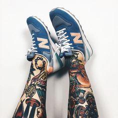 👟🦄 #sneaker #newbalance #ink #inkedlegs #tattoo #tattoos #tattooedlegs