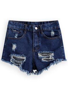 eeec82ce32431 Ripped Fringe Denim Shorts 11.00 Dżinsy, Szorty Jeansowe, Stroje, Ubrania,  Spodnie