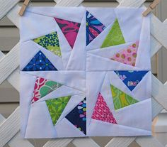 Circle of Geese paper pieced, with link to foundation pattern Hyacinth Quilt Designs