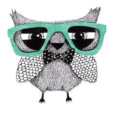 Hipster owl på Nordic Design Collective