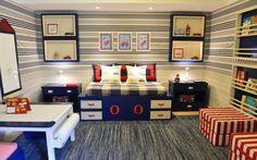 O quarto para meninos de cinco anos foi criado pelo arquiteto Marcelo Rosset para a Mostra Q.