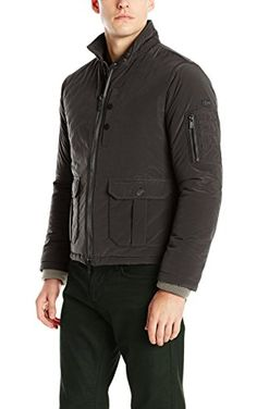 e28b81b4e3562 Armani Jeans Men s Ax Padded Nylon Jacket