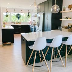 49 suprising small kitchen design ideas and decor 40 ⋆ All About Home Decor Farmhouse Style Kitchen, Modern Farmhouse Kitchens, Home Decor Kitchen, Rustic Kitchen, Kitchen Interior, New Kitchen, Home Kitchens, Kitchen Ideas, Small Modern Kitchens