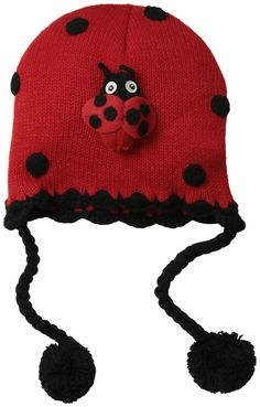 7807530dc03 Kidorable Little Girls  Ladybug Hat  Nothing brightens up the cold months  better than Kidorable knitwear. Children ask to wear it all season long.