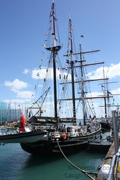 Spirit of New Zealand Tall Ship in Auckland Harbour