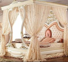 Romancing The Rose Studio is part of Bedroom decor - Nightynight ! Royal Bedroom, Bedroom Sets, Dream Bedroom, Home Bedroom, Girls Bedroom, Bedroom Decor, Elegant Home Decor, Elegant Homes, Luxury Furniture