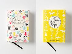 Mr Boddington's Penguin Classics. Alice in Wonderland and Jane Eyre. these are so adorable
