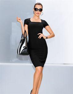 Kleid, Tasche aus Leder