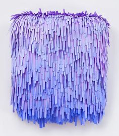 Paper Strips :: Installation by Lauren Clay. Beautifull... Easy Drawings, Paintings For Sale, Art Paintings, Design Trends, Popsicle Art, Popsicle Sticks, Saatchi Gallery, Clay Design, Lilac