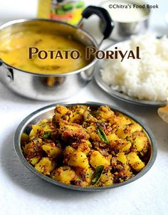 This is my favourite potato curry recipe next to my mom's easy version .Its a pure South Indian style potato poriyal recipe for rice....