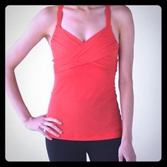 Lululemon wrap it up tank Coral tank, super flattering. bundles lululemon athletica Tops Tank Tops